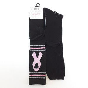 Think Pink and Amanda Taylor Accessories - THINK PINK, AMANDA TAYLOR, 2 pair Knee High Socks